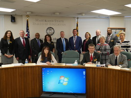 Image of state board honoring Principals of the Year