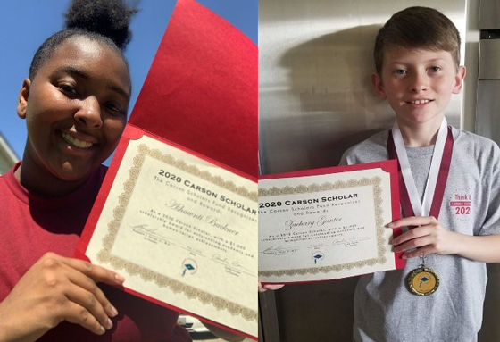 Two SCPS Students Awarded 2020 Ben Carson Scholarships