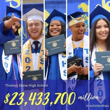 Charles County Public Schools (CCPS) Class of 2020 earned the highest scholarship amount in a decade.