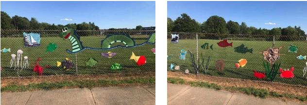 """Rock Hall Elementary School (RHES) presented the """"Yarn Bomb"""" graffiti"""