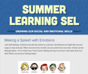 Summer Learning Social and Emotional Learning!