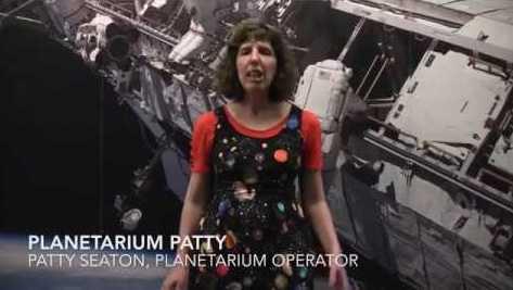 Planetarium Patty in the virtual Howard B. Owens Science Center planetarium