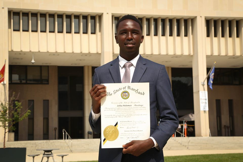 Dundalk High School's Josh Muhumuza new Student Member of the Board of Education of Baltimore County