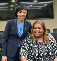 County Executive Angela Alsobrooks Congratulates DPIE Director Melinda Bolling