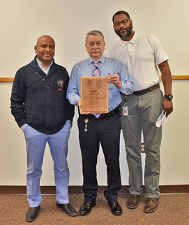 Bill Edelen's Waste Diversion and Recycling Award, pictured with Allieu and Brandon