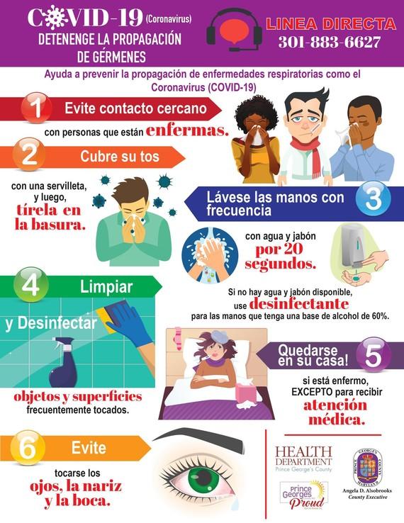 Stop Germs Spanish