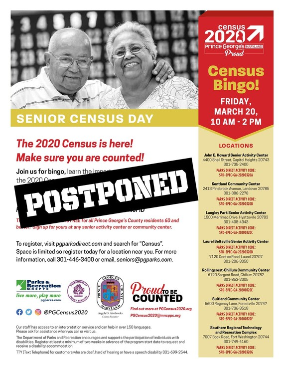 Senior Census Bingo Day