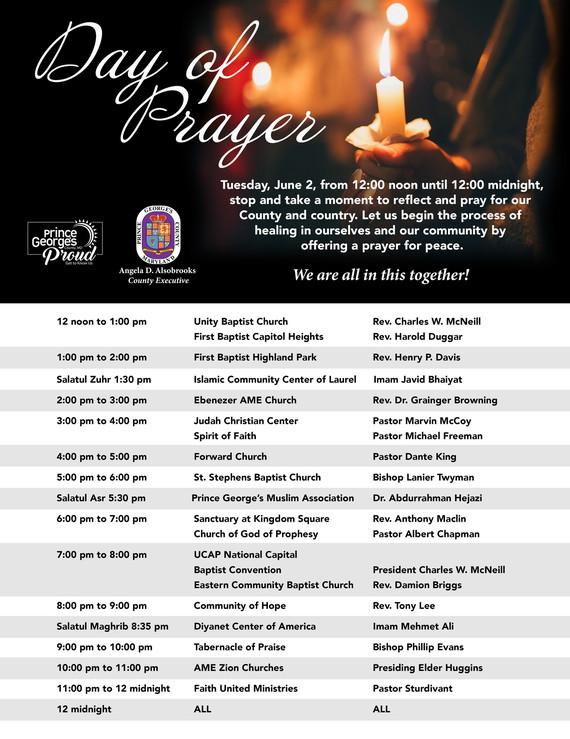 June 2 Day of Prayer