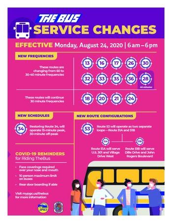TheBus Service Increase Flyer 08-24-2020
