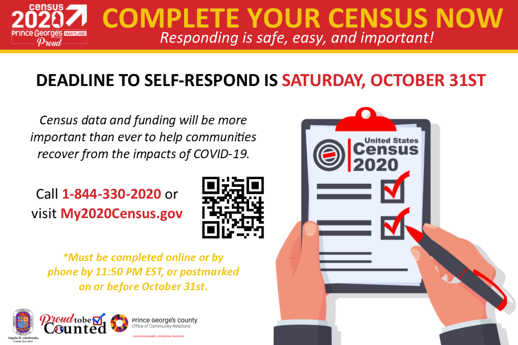 Census Deadline October 31