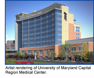 Artist rendering of University of Maryland Capital Region Medical Center.