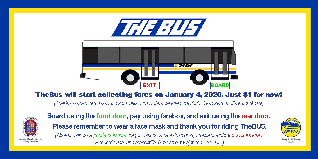 TheBus Reinstates Fare Collection at Reduced Rate 01/2021