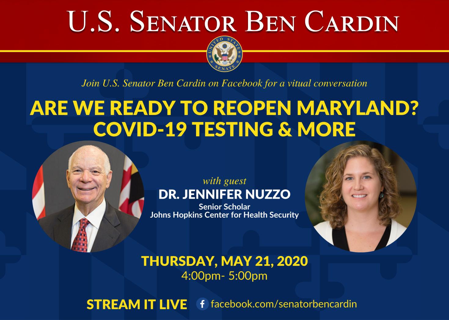Senator Ben Cardin FB Live