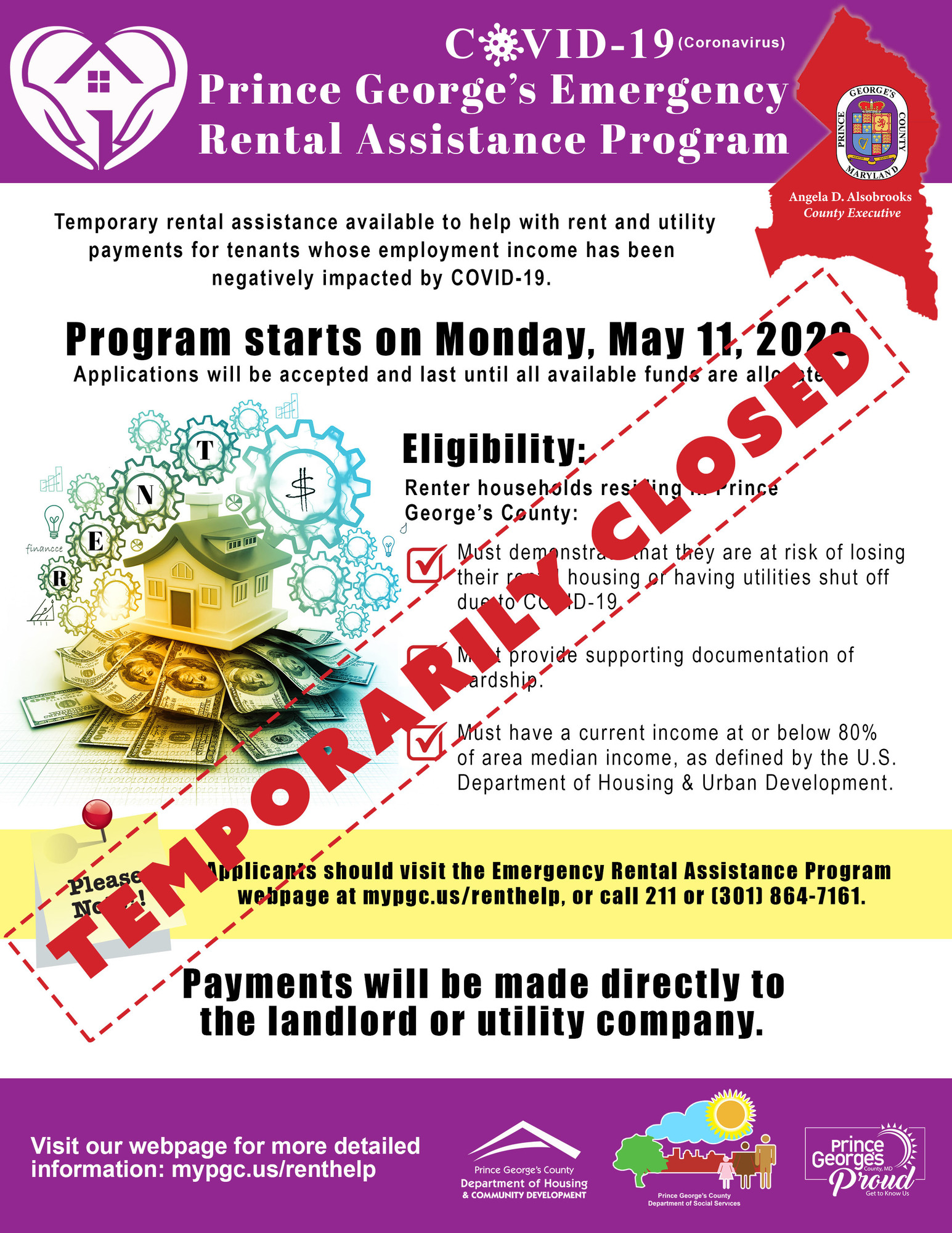 Rental Program Closed