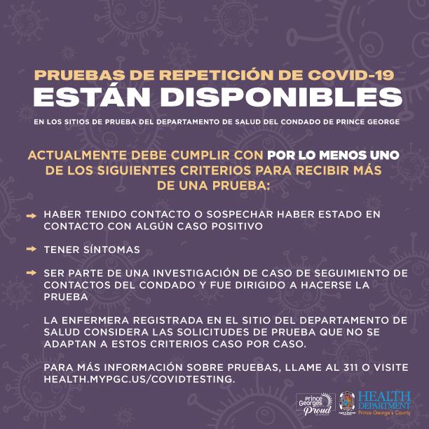COVID Retest.Spanish