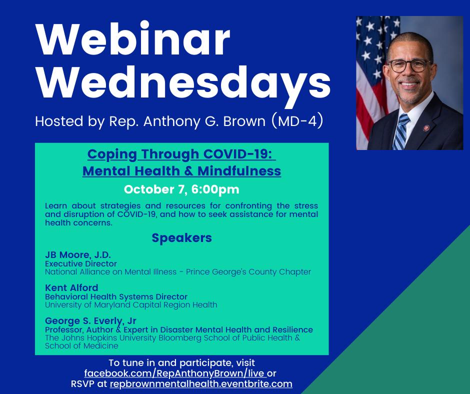 Mental Health Webinar with Congressman Brown