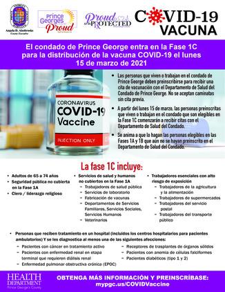 Vaccine Phase 1c Spanish