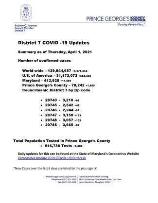 D7 COVID Update 4.1.21
