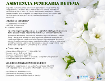 COVID Funeral resources Spanish