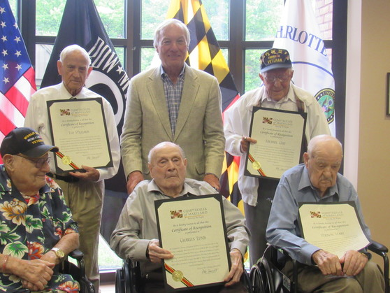 Charlotte Hall WWII Veterans Photo