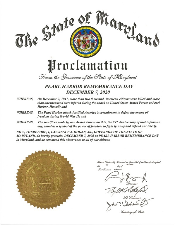 Pearl Harbor Day Proclamation