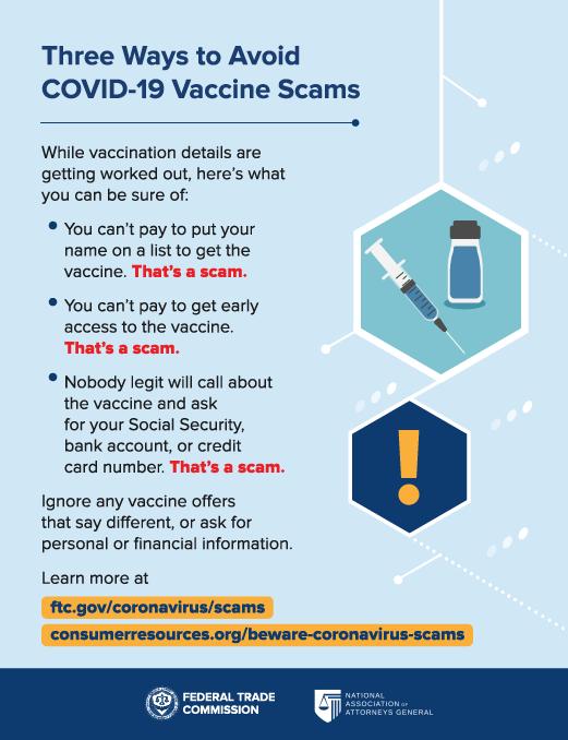 FTC COVID Fraud Warning