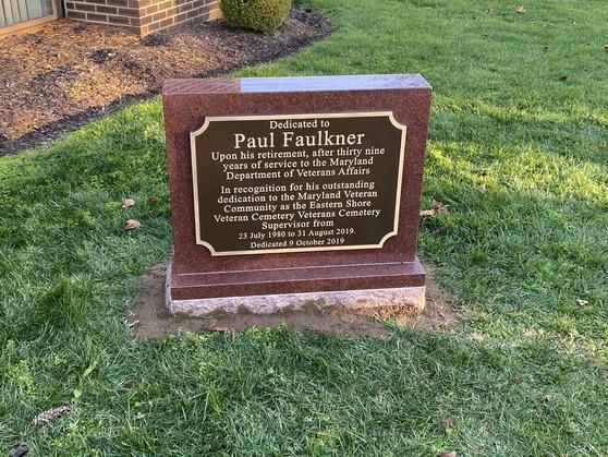 Paul Faulkner's plaque