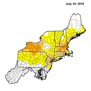 Northeast Drought Monitor July 19, 2016