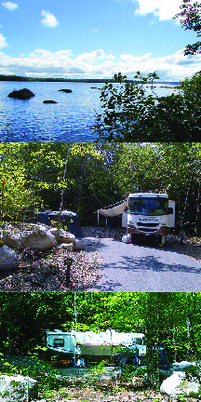 branch lake and park host RV site
