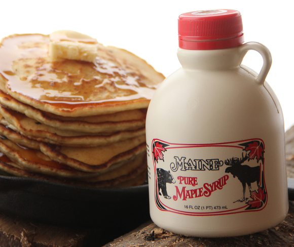 Maine Maple Sunday 2018 Pancakes and Maine Maple Syrup