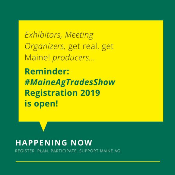 2019 Ag Trades Show Registration Reminder