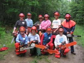 Women Chainsaw Training Group photo