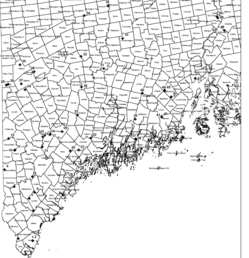 Map of white pine study sites.