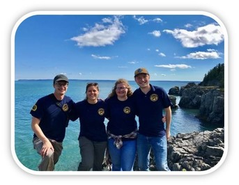 Maine Conservation Corps Environmental Stewards volunteering at Quoddy Head State Park.