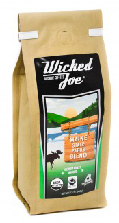 Maine State Parks Blend coffee by Wicked Joe - picture of bag.
