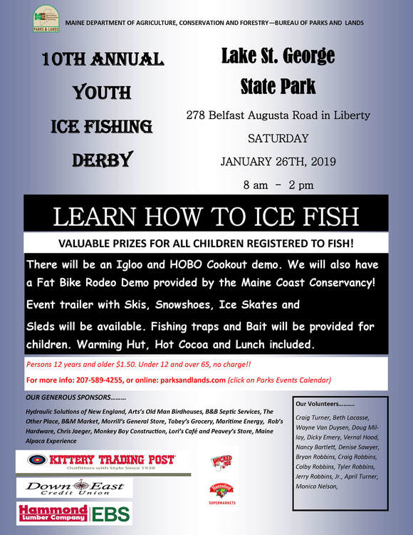 Lake St. George State Park Ice Fishing Derby Flyer