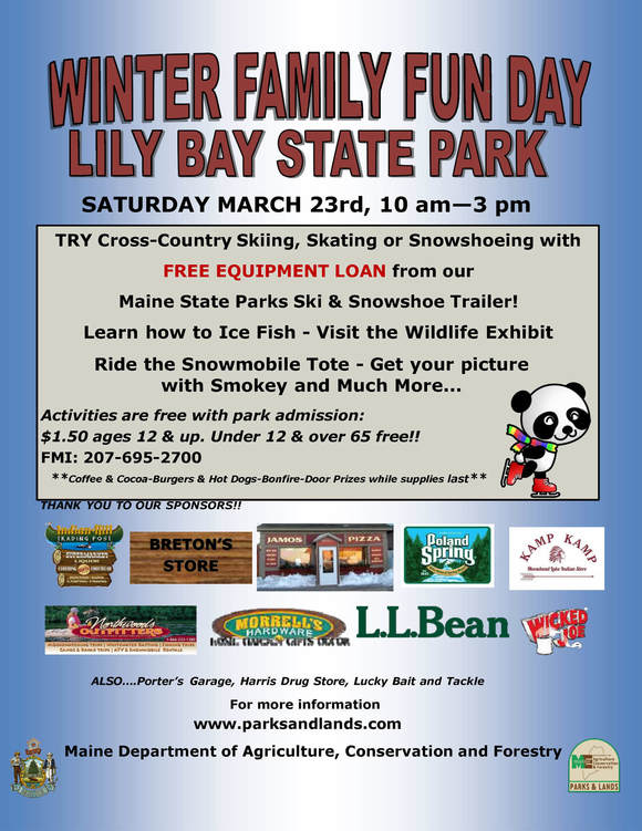 Winter Family Fun Day at Lily Bay State Park