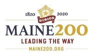 Maine's bicentennial celebration logo Maine200.org
