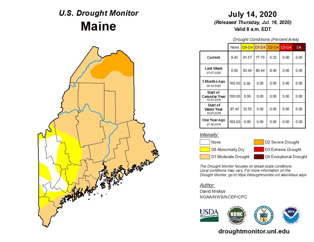 July 14 drought monitor map. NOAA, https://droughtmonitor.unl.edu/Maps/MapArchive.aspx