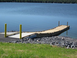 Dock with floats removed.
