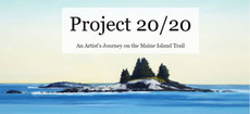 Project 20/20 island painting by landscape painter Matt Russ with the Project 20/20 header superimposed over it.