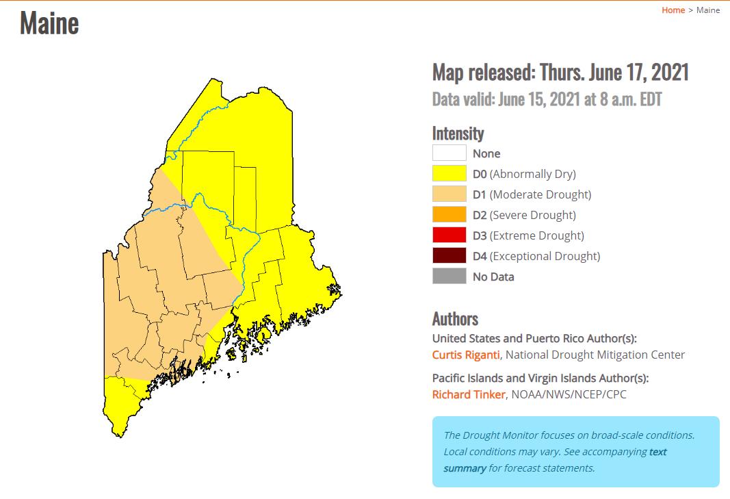 Drought Monitor June 17,2021
