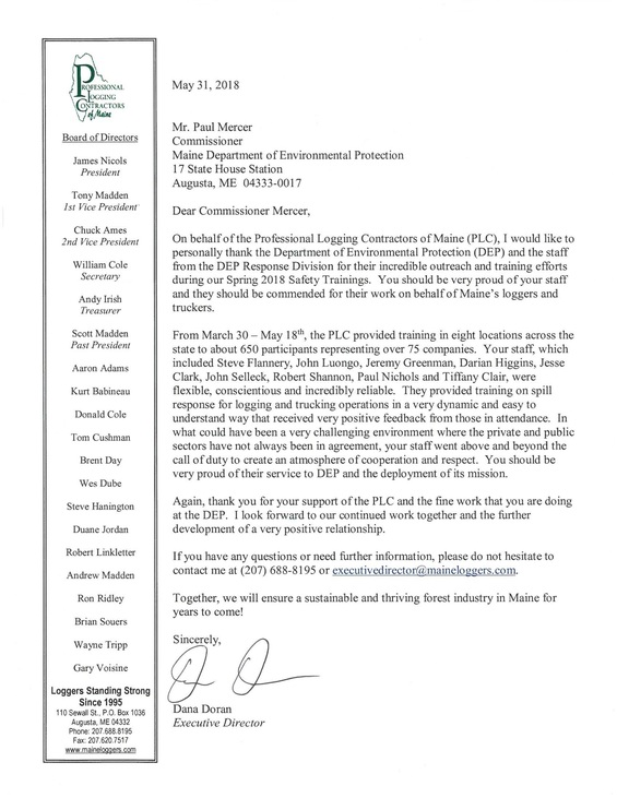 loggers letter
