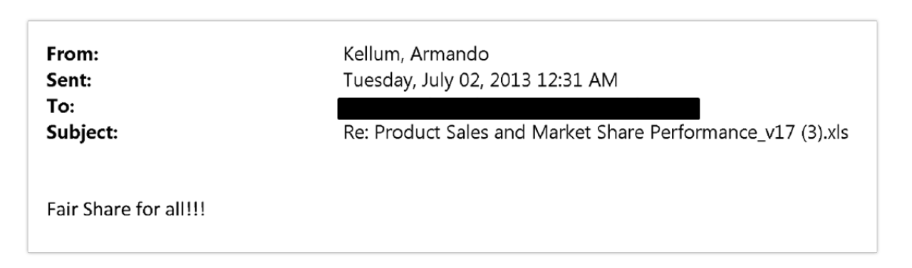 Email from Armando