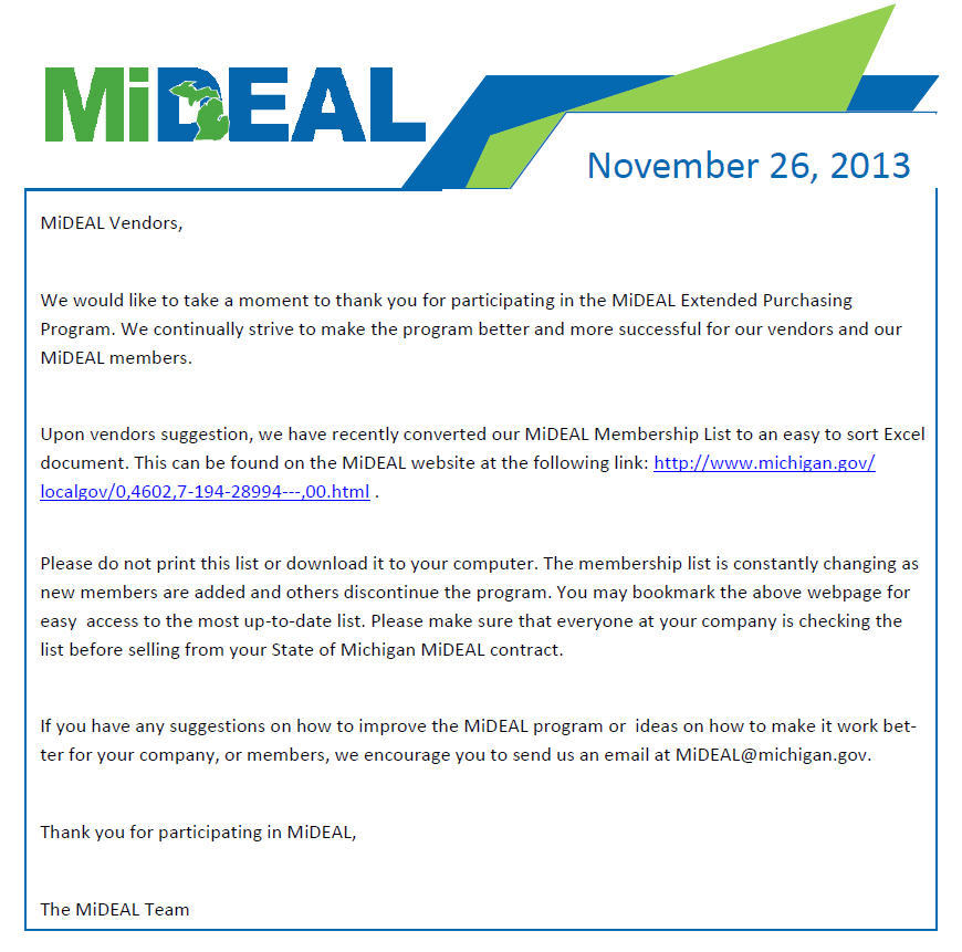 Michigan Department Of Technology Management And Budget Mideal