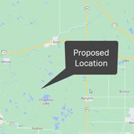Map of Michigan Potash Location