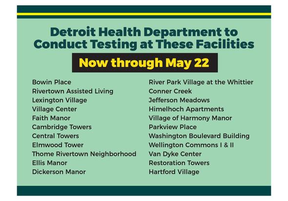 COVID Testing at Senior Buildings