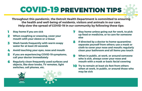 COVID 19 Prevention Tips 5 22 2020