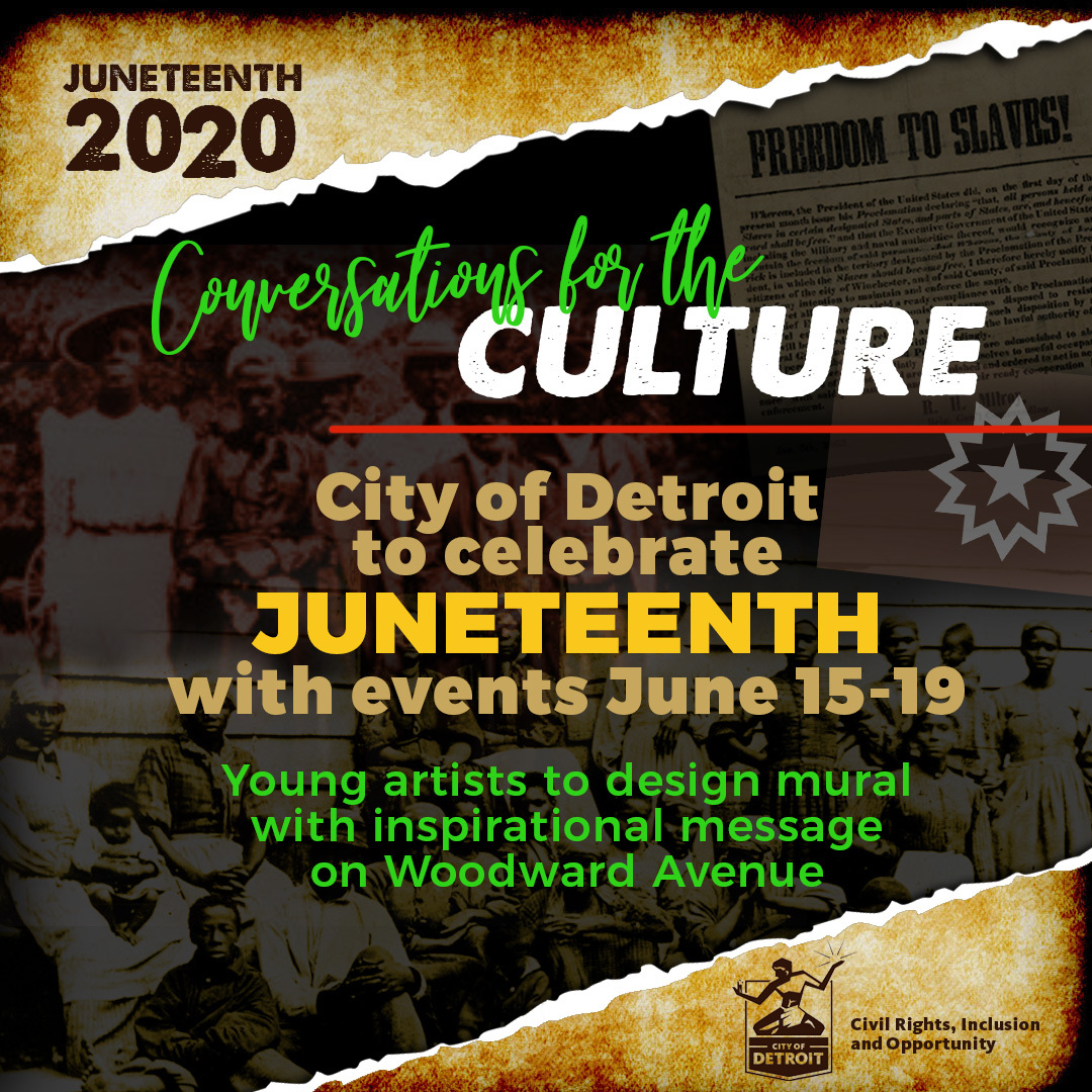 Juneteenth 2020 Events Graphics