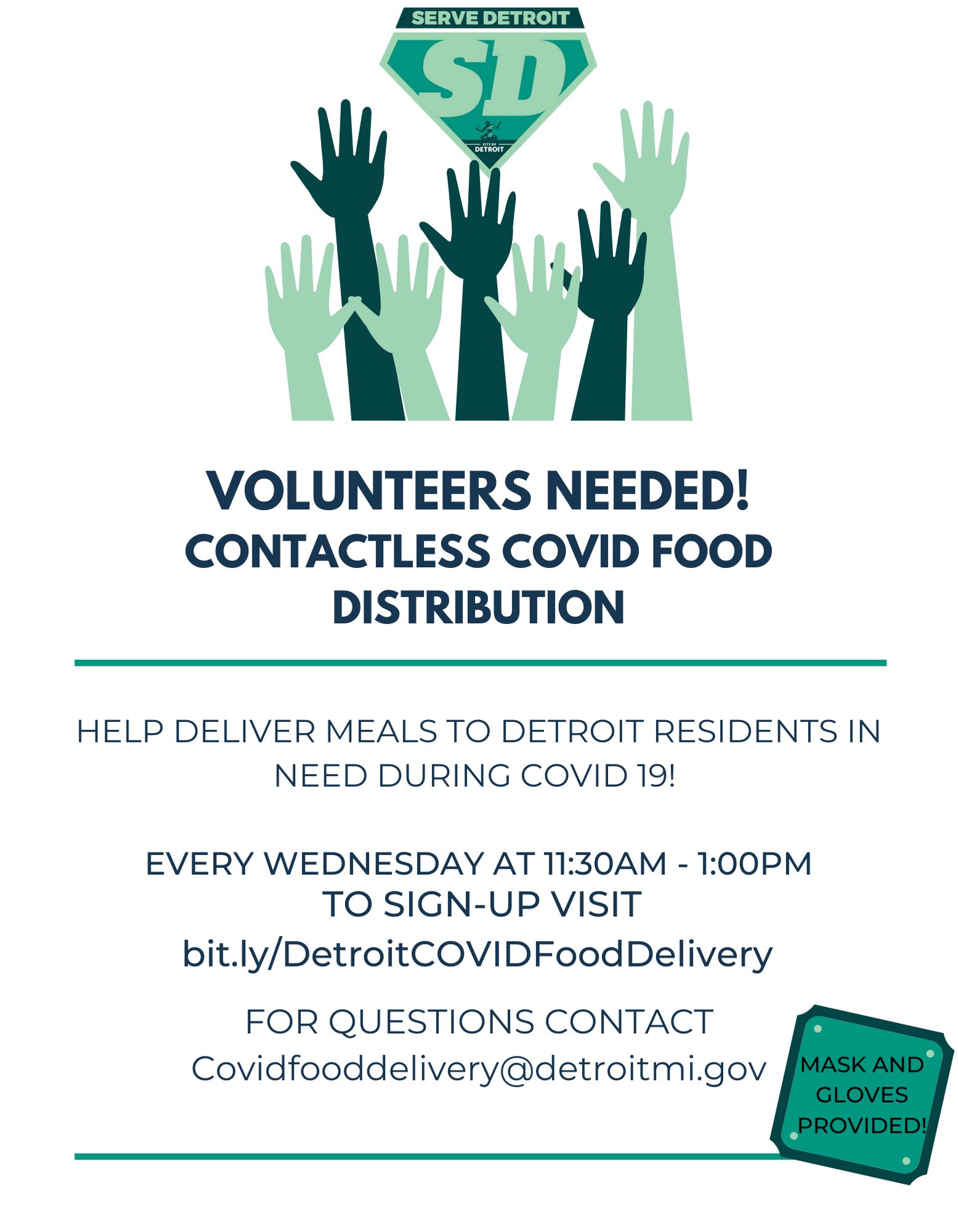 COVID-19 Food Delivery Volunteers Needed
